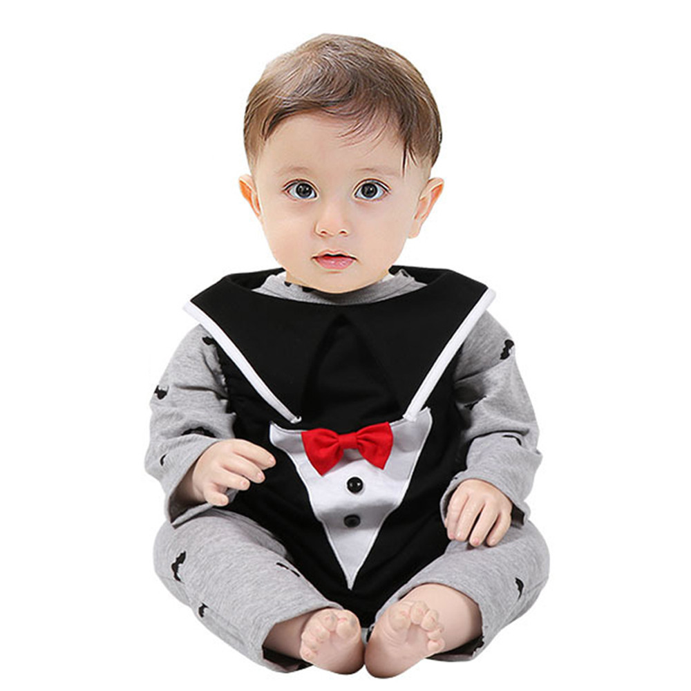 2017 fashion Baby Halloween Gray for 6-18m Newborn Infant Baby Boy Cartoon Romper Vest Halloween Outfits Costume vampire Set p30
