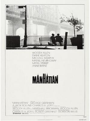 Manhattan Woody Allen Vintage Movie Art Wall Decor Silk Print Poster image
