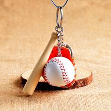 Softball Baseball music note Keychain Charm Pendant Decorative Key Chain Ring Fit keychain Bag Pendant music note Keychain(China)