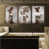 3 개 무료 배송 현대 벽 그림 아름다움 누드 여성 홈 장식 예술 사진 캔버스 인쇄에 페인트 장식