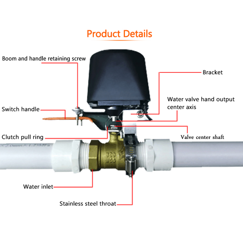 Z-Wave Smart Home Automation Gas / Water Auto Shutoff Valve/Small Total Valve/Water Valves And Garden Watering EU 868. 42MHZ