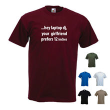 Hey Laptop DJ, Your Girlfriend Prefers 12 inches Funny Vinyl Records T-shirt New T Shirts Tops Tee Unisex
