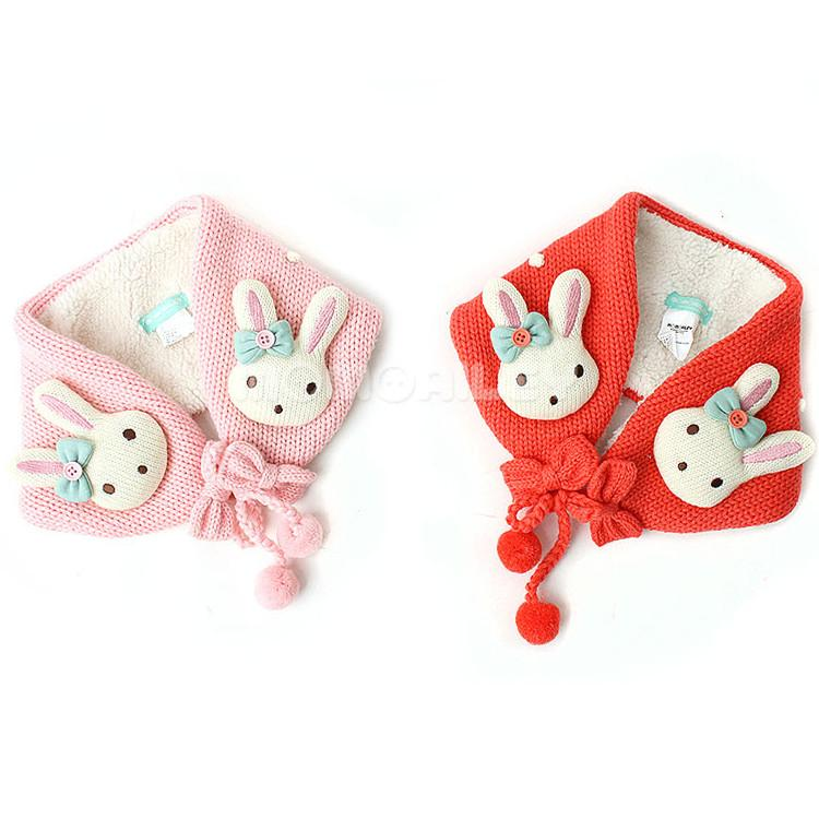 Korean Winghouse Girl Cartoon Rabbit Cute Fur Ball Children's Ear Warm With Down Winter Warm Earplug