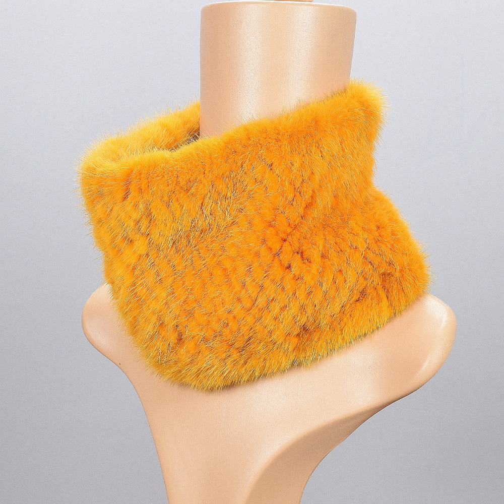 2017   Scarves   for women Russian winter natural fur 100% Genuine Mink Fur Knitted Women Warm Winter Fur   Scarves     Wraps   Fur Mink