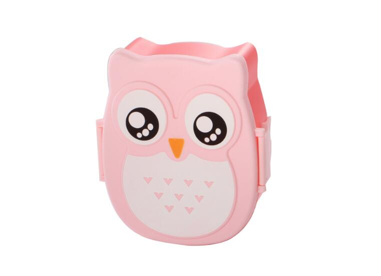 For Food Picnic Owl pattern Lunch Box Portable Japanese Bento Meal Boxes Lunchbox Storage For Kids School Outdoor Thermos