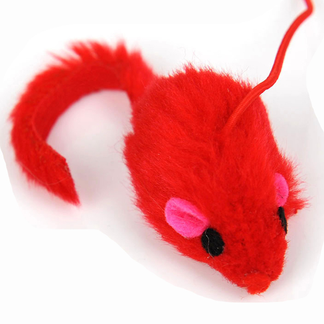 Top Quality Pet Cat Teaser Toy cut red mouse Design Bird Feather Teaser Wand Plastic Toy For Cats Multi Products For Pet