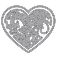 Naifumodo Floral Heart Metal Cutting Dies Scrapbooking for Card Making DIY Embossing Cuts New Craft Die Heart Cover(China)