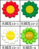Flower pvc shoe charms/shoe decoration/shoe accessories wholesale and retail