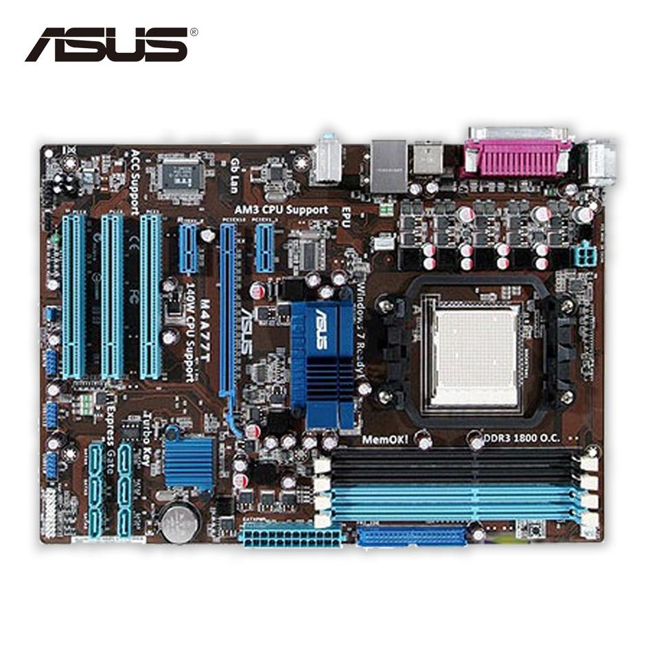 Asus M4A77T Desktop Motherboard 770 Socket AM3 DDR3 16GB SATA II USB2.0 ATX Second-hand High Quality asus p5qpl am в киеве