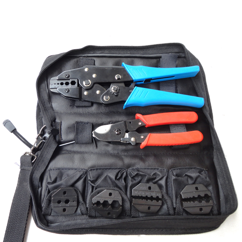 цена LS-K05H CCTV Tool Kit Coaxial Crimping Tool kit with cable cutter & replaceable dies for CCTV BNC coaxial cable connectors