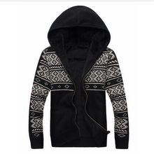 AILOOGE Fashion Men's Sweaters Coats Cotton Long Sleeve Mens Winter Sweaters Hooded Knitted Casual Sweaters Wholesales