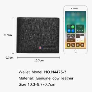 Image 2 - BISON DENIM Genuine Leather Mens Wallet With Luxury Male Belt Gift Box Card Holder Wallet for Father Friend Birthday Gift Set