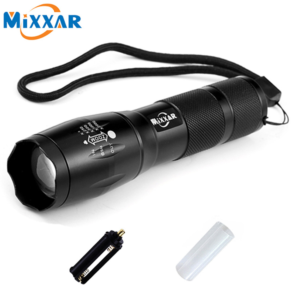 ZK20 CREE XML-T6 4000 Lumens Flashlight LED Torch 5 Mode Zoomable LED Flashlight Bike Bicycle Light by 1*18650 or 3*AAA Battery 6000lumens bike bicycle light cree xml t6 led flashlight torch mount holder warning rear flash light