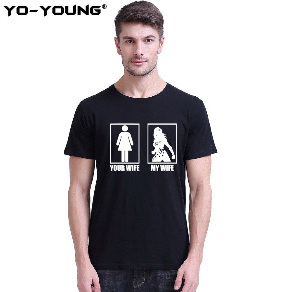 Yo-Young bărbați T-Shirts Wonder Femeile Soția mea Soția ta - Imbracaminte barbati