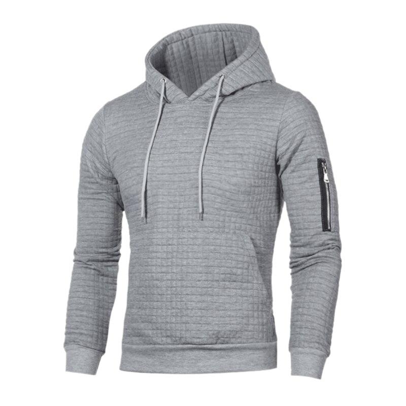 Drop Shipping Hoodies Men Long Sleeve Solid Color Hooded Sweatshirt Male Hoodie Casual Sportswear US Size Free Shipping Zipper