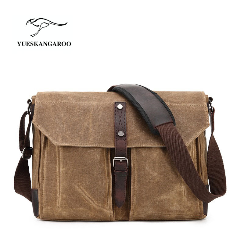 Men Bags Vinatge Canvas Messenger Bags 2017 Designer Brand Men's Fashion Crossbody Shoulder Bag Solid Male Casual Travel Bag aosbos fashion portable insulated canvas lunch bag thermal food picnic lunch bags for women kids men cooler lunch box bag tote