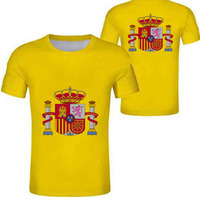 SPAIN male youth custom made name number esp boy t shirt nation flag es spanish country college print photo logo text clothing