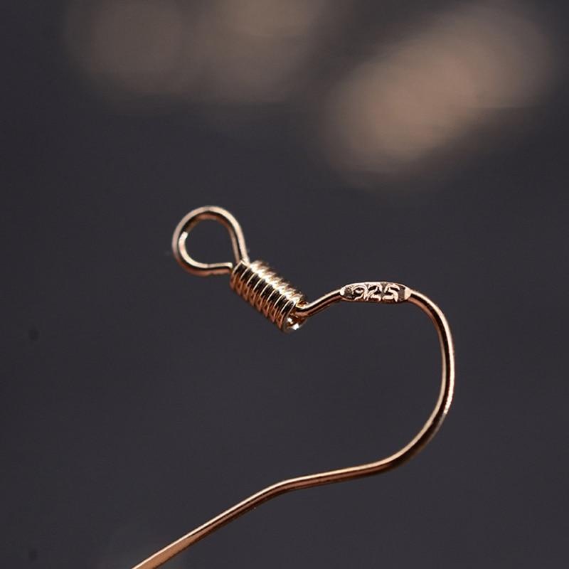 100pcs/lot Carven 925 Silver Copper Ear Wires Wholesale Earrings Hook for DIY Jewelry Earrings Making Supplies Accessories