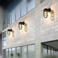 Waterproof Lantern Loft Style Wall Lamp IP54 Outdoor Nordic Vintage Wall Light For Home Lightings Aisle Outdoor Balcony Garden