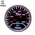 """EE apoio New Car Motor Relógio Smoke Tint Len 2 """"Medidor De Pressão De Óleo Indicador de Casca branca 52mm Kit Medidor de Imprensa Venda XY01"""