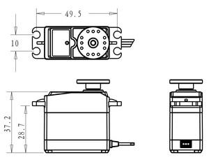 Image 3 - 2x 360 servo 360 grad Kontinuierliche Drehung Servos DC Getriebe Motor Smart Auto Roboter 5,5 kg/cm DC 4,8 v 6V