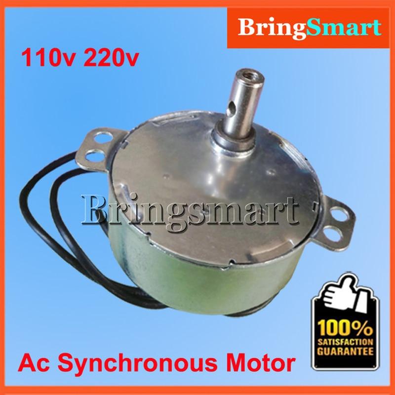 BringSmart 5-24v 110v 220v 1.4 2 4 8 10 15 20 30 48 60rpm Crafts Rotate Exhibition Fan Microwave Oven Gear AC Synchronous Motor цена