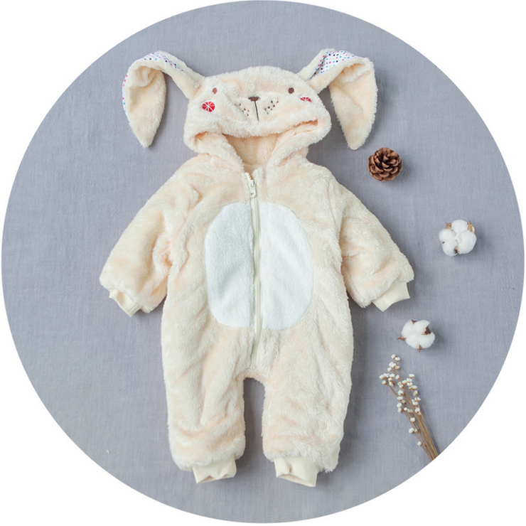 Cute Winter Baby Clothes Rabbit Style Romper Warm Newborn Baby Costumes