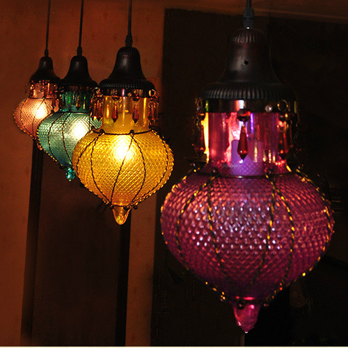 Mancafe Southeast Asia Creative Retro Chandelier Bar Counter Colored Glass Bohemian Art LampsMancafe Southeast Asia Creative Retro Chandelier Bar Counter Colored Glass Bohemian Art Lamps