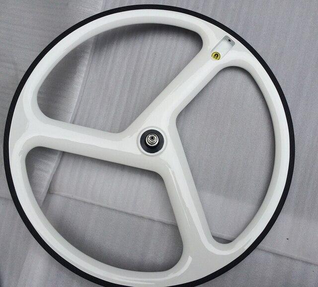 fixie felgen white glossy 3 speichen fahrrad rad. Black Bedroom Furniture Sets. Home Design Ideas