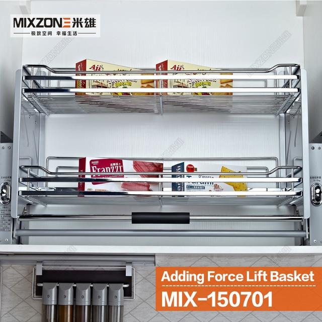 Us 144 0 Lift Up Basket Pull Down Unit Lifter Organizer Basket Stainless Steel Kitchen Wall Cabinet Storage Basket Mixzone 150701 In Storage Baskets