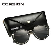 COASION Brand Designer 2019 Sunglasses Women Polarized Fashion Retro Round Sun Glasses Female Shades for UV400 CA1249