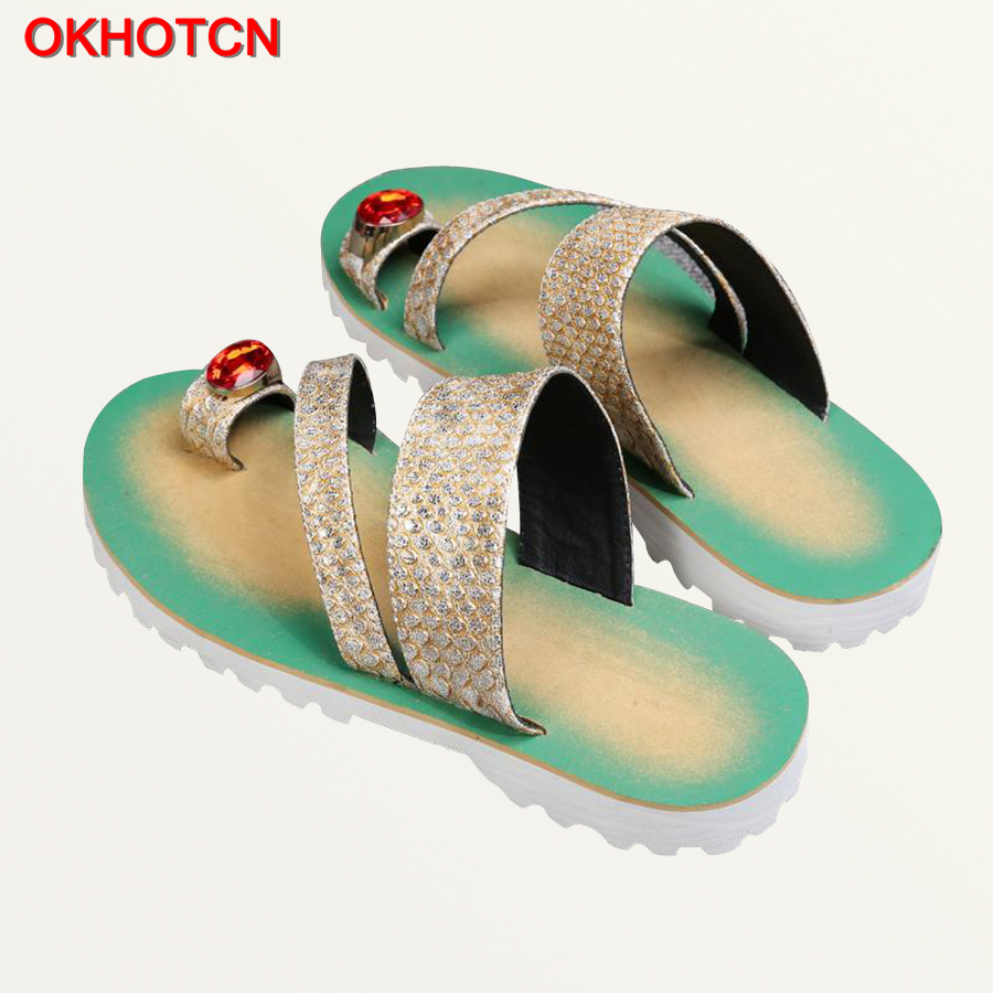 Shoes Okhotcn 2018 New Snake Men Sandal Slippers Retro Classic Mens Summer Shoes String Bead Beach Shoes Rubber Non-slip Flip Flops Flip Flops