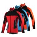 ARSUXE Мужская велосипедная куртка, зимняя теплая флисовая велосипедная одежда с длинным рукавом, ветрозащитная куртка для горного велосипед...