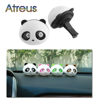 Car Outlet Perfume Cute Panda Eyes For Ford Focus 2 3 VW Passat B6 B5 B7 B8 Toyota Avensis Skoda Rapid Fabia Accessories image