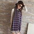 QYS007 2016 nuevo doble simple llano bufanda caliente Cachemira de Pashmina mantón de la cachemira de Imitación femenina/Espesado largo scarves/4 color