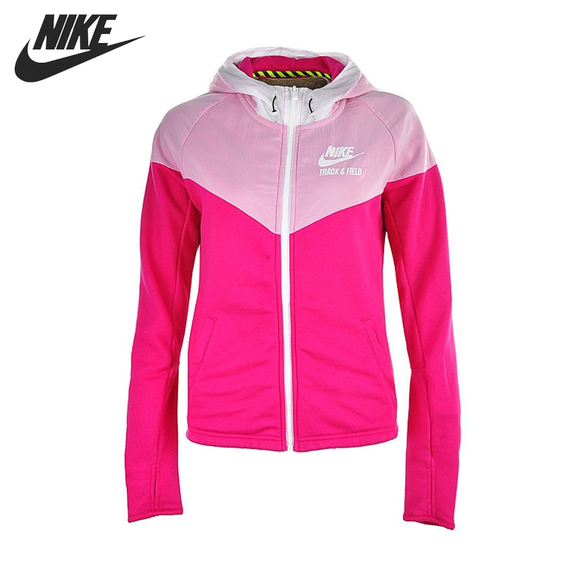 Original NIKE RU MIX FABRIC WINDRUNN Women's jackets Hooded Sportswear free shipping