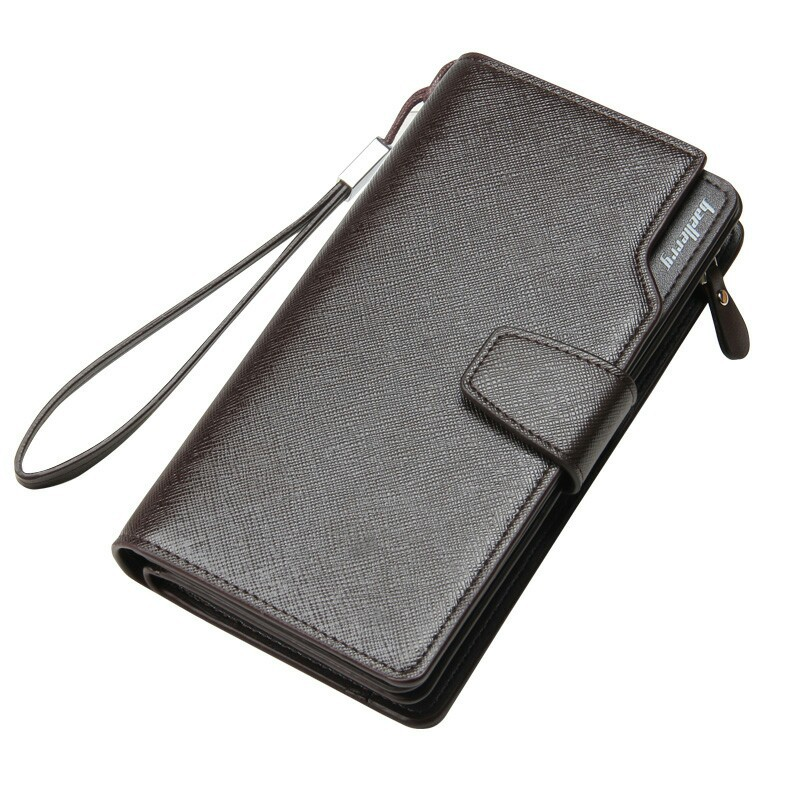 Baellerry Men Wallets New Design Men Purse Casual Wallet Clutch Bag Brand Leather Long Wallet Brand Hand Bag For Men Purse