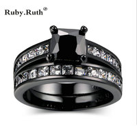 Fashion AAA Cubic Zircon Black Gun Filled Ring For Women Jewelry New Sale Elegant Retro Rings