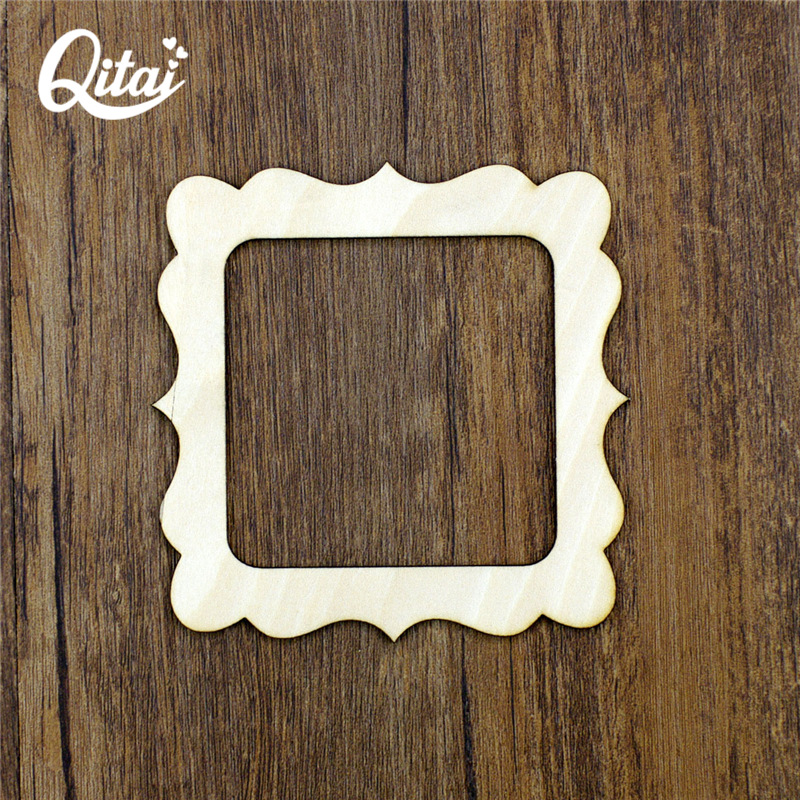 Us 5 06 41 Off Qitai 12 Pieces Lot Big Photo Frame Wooden Veneer Shape Vintage Frame Scrapbooking Products Diy Home Decoration Wf047 In Frame From