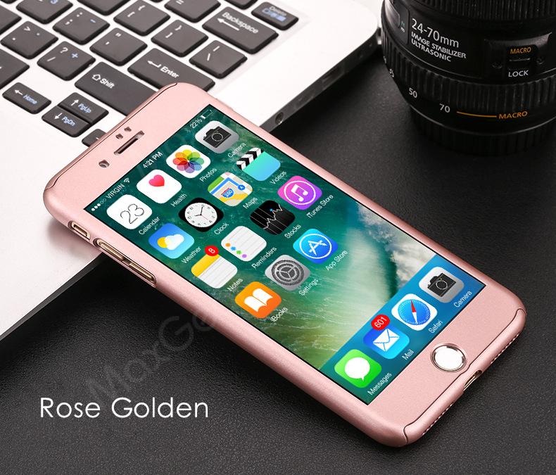 Luksusowe Piano Black 360 Stopni Ciężka PECET Skrzynki Dla Apple iPhone 5 5S SE 6 6 S 7 Plus Szczupła Całe Ciało Pokrywa Capa + Szklany Ekran Protector 15