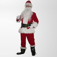 New Christmas Red And Blue Santa Claus Long Sleeved Fancy Cosplay Costumes For Christmas Party Clothing