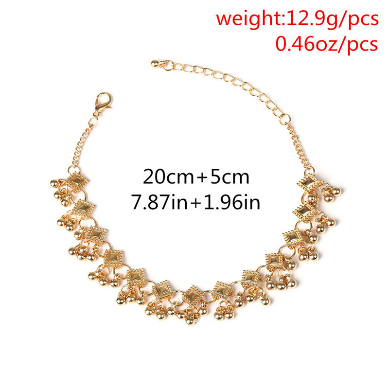2018 Fashion Vintage Anklet Foot Bracelet On The Leg In Gold/Silver Color Stainless Steel Jewelry For Women Indian Halhal 5