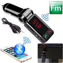 Newest Car MP3 Audio Player BC06 Wireless Car Kit Bluetooth HandsFree FM Transmitter LED 5V/2.1A Dual USB Car Charger for Cars