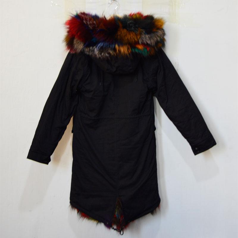 kleurrijke winterjas