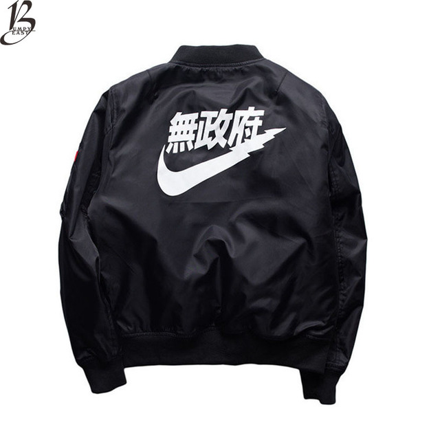 191c600dc3 Kanji Jackets Ma1 Bomber Jacket Men 2017 Autumn Winter New Pilot Thick Coat  Flight Jacket Women Men Baseball Coats Us Size
