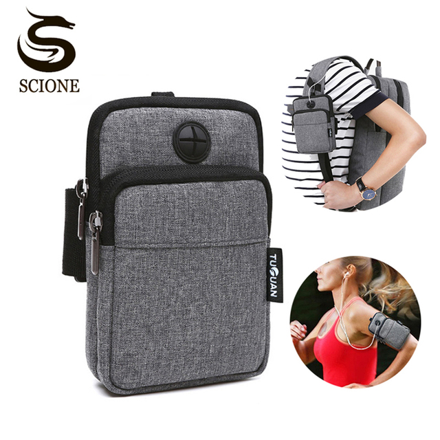 sports shoes b38ea 6b437 Fashion Armband Bag Case Cover Waterproof Mobile Phone Holder Casual Multi  functional Men/Women Earphone Keys Arm Bags Pouch-in Wristlets from Luggage  ...