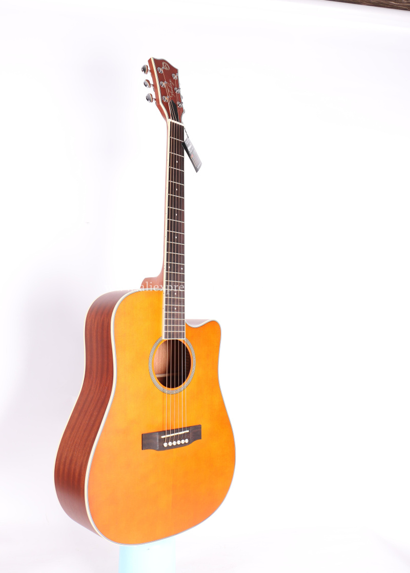 buy free shipping 41 acoustic guitar solid spruce top mahogany body guitars. Black Bedroom Furniture Sets. Home Design Ideas