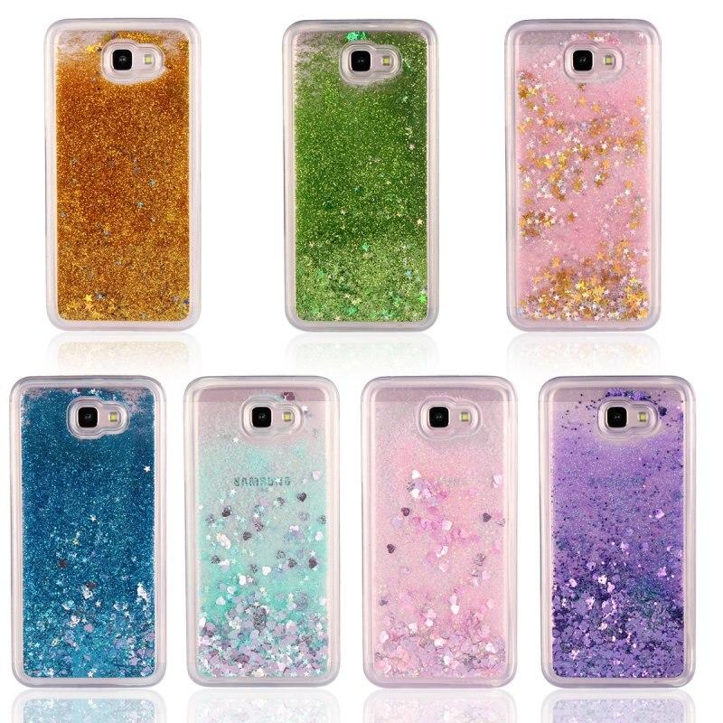 Glitter Liquide Cas Pour Samsung Galaxy J5 Premier, On5 2016, de luxe En Silicone Souple Couverture Arrière TPU Gel Cas Brillant Cas de Téléphone portable