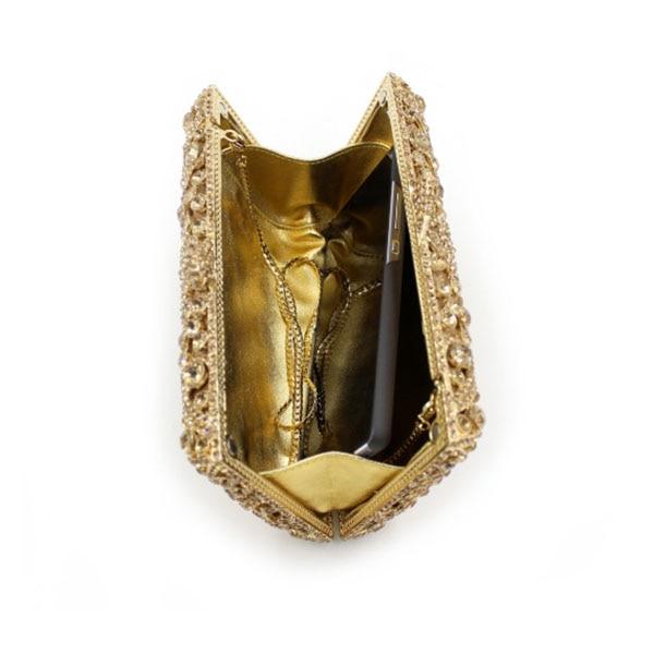 Casual Cristal Clip Main Pour Femmes Sac Or Embrayage orange De Les Mode Or Diamant Dur Cas À Sacs Bandoulière Soirée Boîte Dames xwfvnA