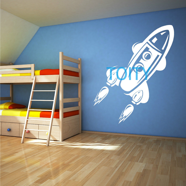 Rocket Childrens Toy Space Ship Vinyl Wall Art Sticker Decal Space